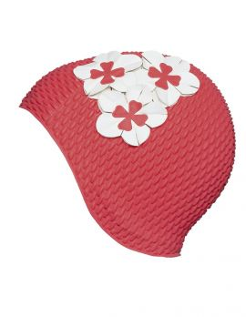 Bubble Flower Swim Cap
