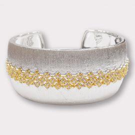 Wide CZ Cuff Bracelet