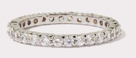 Small Round Cut CZ Eternity Band