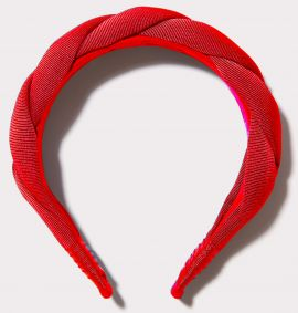 Twisted Grosgrain Headband, Red