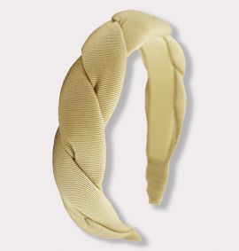Twisted Grosgrain Headband, Tan