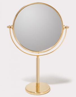 PAS-23-2TP-GO X7-Gold - PASSY 23 DOUBLE SIDED STANDING MIRROR 7X