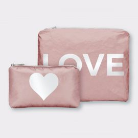 Shimmering Pink Sands with White Love & a Heart