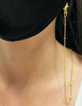 Gold Beaded Mask Chain