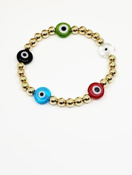 Gold Evil Eye Bracelet