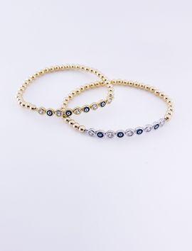 Evil Eye bracelets, 4mm