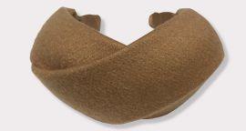 Wide Cashmere X-Shape Headband