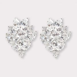Asscher Cut CZ Earrings | Fantasia by DeSerio