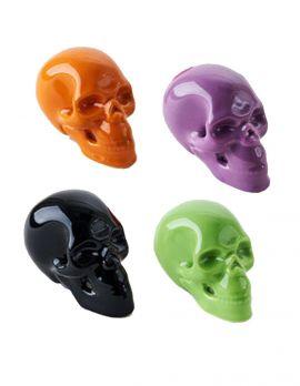 Porcelain Colored Skull
