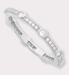 Pavéd CZ Eternity Band