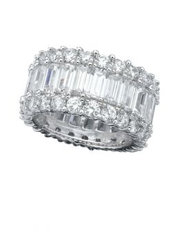 CZ Eternity Band with Baguettes and Round Stones
