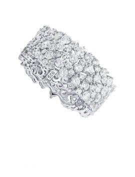 Wide Band  CZ Cluster Ring