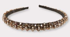 Crystal Headband in Flower Pattern