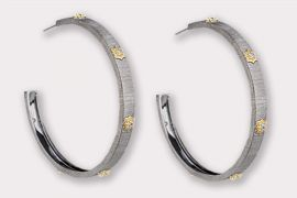 Large CZ Hoop Earrings