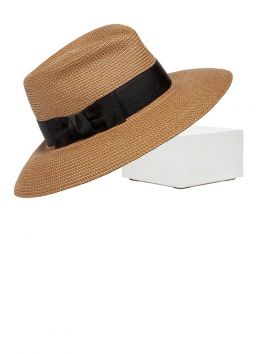 Phoenix Fedora Hat, Natural-Black