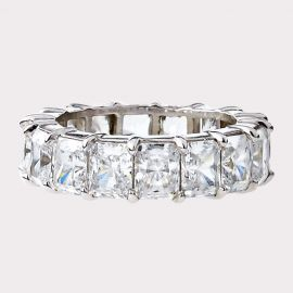 Asscher Cut CZ Eternity Band