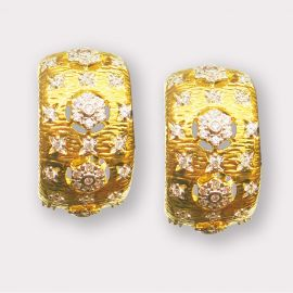 CZ Clip Earrings