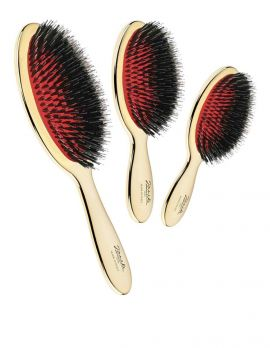 Gold Hairbrush with mixed bristles