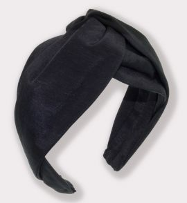 Classic Extra Wide Bengaline Turban Headband in Black