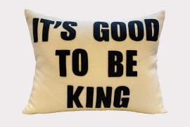 Throw Pillow, It's Good to be King