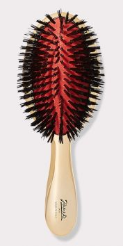 LARGE GOLD HAIRBRUSH WITH PURE BRISTLES