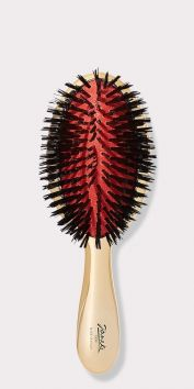 SMALL GOLD HAIRBRUSH WITH PURE BRISTLES