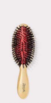 SMALL GOLD HAIRBRUSH WITH MIXED BRISTLES