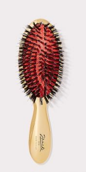 LARGE GOLD HAIRBRUSH WITH MIXED BRISTLES