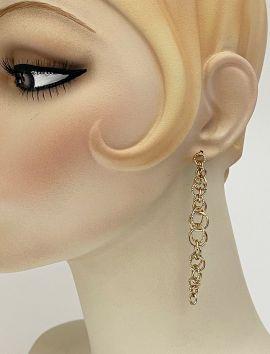 Gold Cluster Chain Earrings