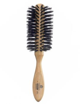 Large Half Round Hairbrush with Pure Bristles