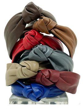 Leather Center Tie Knot Headband