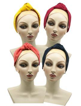 Linen Center Tie Knot Turban Headband.