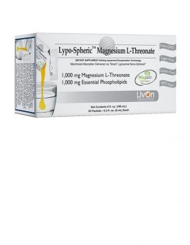 Lypo–Spheric Magnesium L–Threonate 1,000mg.