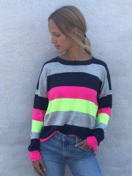Manhattan Block Sweater Neon