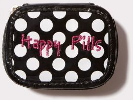 Happy Pills Black and White Polka Dots