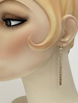 Long Flowers CZ Earrings