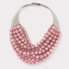 Bella Necklace in Rose and Taupe