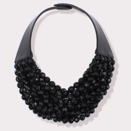 Bella Necklace in Jet Black
