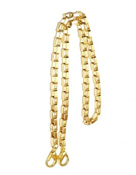 Gold Open Link Mask Chain