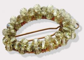 Oval Crystal Barrette in Sea Foam