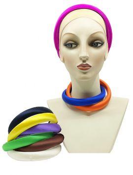 Padded Headband Silk Charmeuse, 1 inch