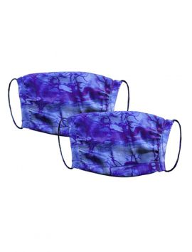 Peace Face Covering Cobalt Handkerchief Print Silk