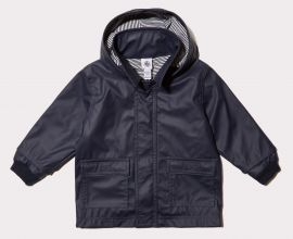 Kid's Iconic Raincoat in Navy