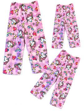 Fuzzy Flurry Pink Unicorns Pajama Pants