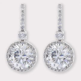 Drop Earrings with Pavé