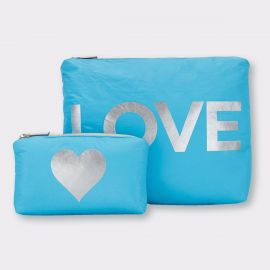 Sky Blue with Silver Love & a Heart