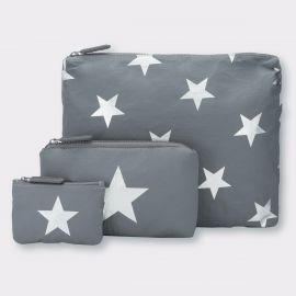 Cool Gray with Metallic Silver Stars