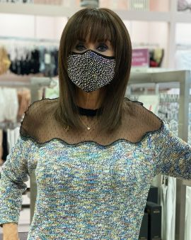 Rhinestone Double Layer Face Mask