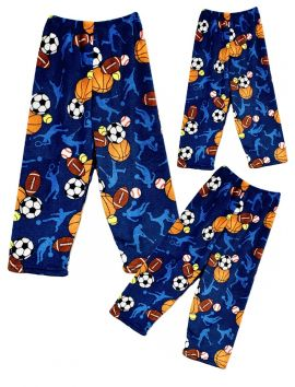 Fuzzy Flurry Sports Frenzy Pajama Pants