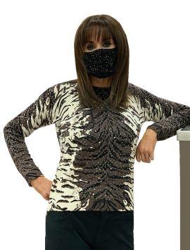 Rhinestone Double Layer Face Mask